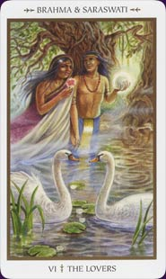 Animals Divine Tarot Lovers Card