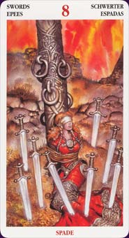 Celtic Tarot Eight of Swords