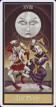 Deviant Moon Tarot Moon Card