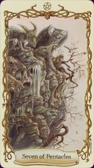 Fantastical Creatures Tarot Seven of Pentacles