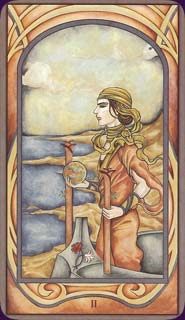 Fenestra Tarot Two of Wands Card
