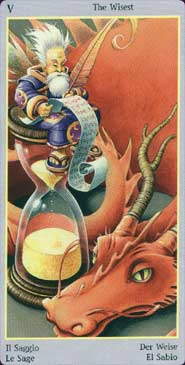 Fey Tarot Hierophant Card
