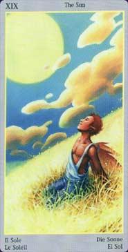Fey Tarot Sun Card