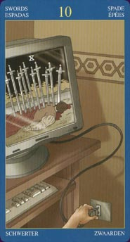 Gay Tarot Ten of Swords