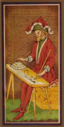 Cards from Golden Tarot: The Visconti-Sforza Deck