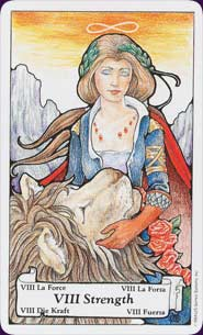 Hanson-Roberts Tarot Strength Card