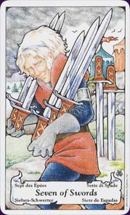 Hanson-Roberts Tarot Seven of Swords