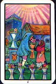 Illuminated Tarot Six of Cups