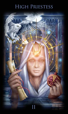 Legacy of the Divine Tarot High Priestess
