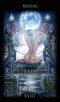 Image result for full moon tarot card
