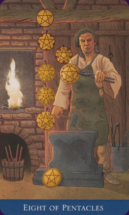 Llewellyns-Classic-Tarot-Eight-of-Pentacles