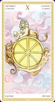 Lo Scarabeo Tarot Wheel of Fortune Card
