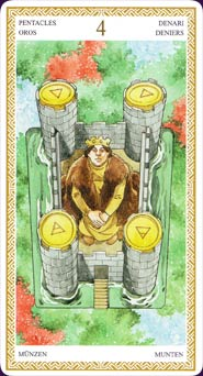 Lo Scarabeo Tarot Four of Pentacles