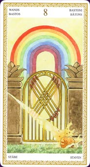 Lo Scarabeo Tarot Eight of Wands