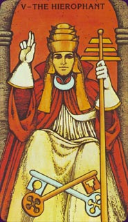 Morgan-Greer Tarot Hierophant Card