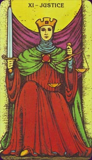 Morgan-Greer Tarot Justice Card