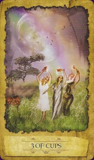 Mystic Dreamer Tarot Three of Cups