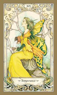 Mystic Faerie Tarot Temperance Card