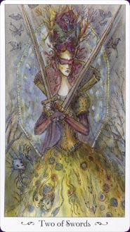Paulina Tarot Two of Swords Card