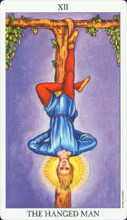 Radiant Rider-Waite Tarot Hanged Man Card