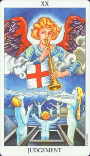 Radiant Rider Waite Tarot Judgement Card