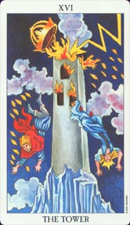 Radiant Rider-Waite Tarot Tower Card