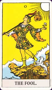 Rider Waite Tarot Fool Card