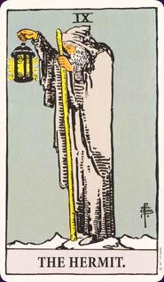 Rider-Waite Tarot Hermit Card