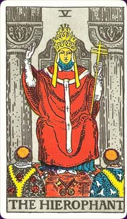 Rider-Waite Tarot Hierophant Card