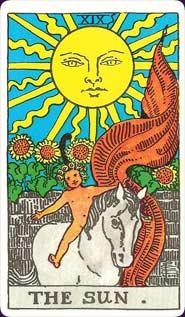 Rider-Waite Tarot Sun Card