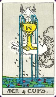 Rider-Waite Tarot Ace of Cups Card