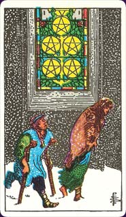 Rider-Waite Tarot Five of Pentacles