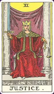 Rider-Waite Tarot Justice Card