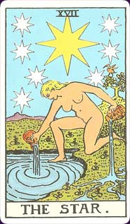 Rider-Waite Tarot Star Card