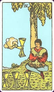 Rider-Waite tarot Four of Cups