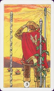 Robin Wood Tarot Three of Wands