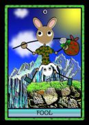 Cards from Stickee Critters Tarot