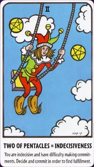 Tell Me Tarot Two of Pentacles