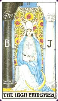 Universal Waite Tarot High Priestess Card