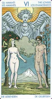 Universal Tarot Lovers Card