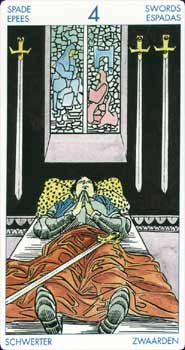 Rider-Waite Tarot Four of Swords