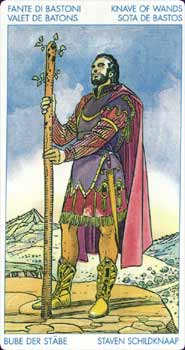 Universal Tarot Page of Wands