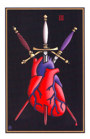 Rider-Waite Tarot Three of Swords