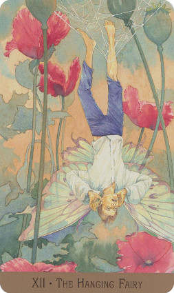 Victorian Fairy Tarot Hanged Man Card