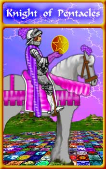 Knight of Pentacles : Second Aeclectic Community Tarot